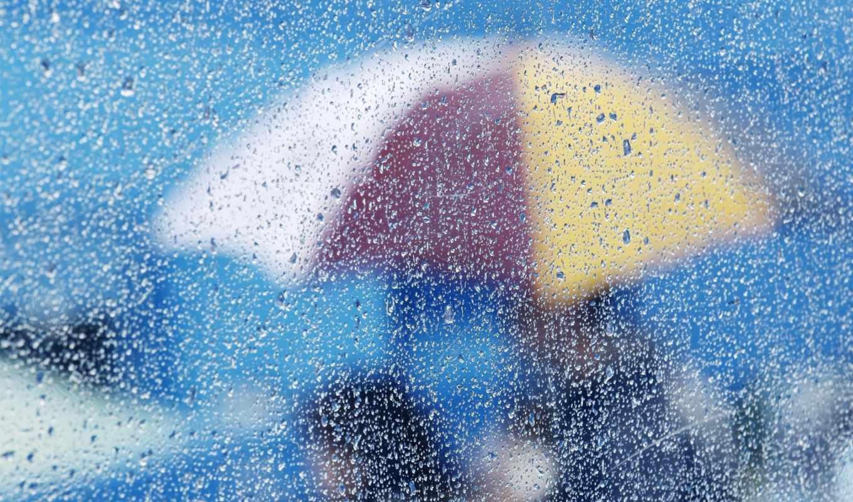 капли, glass, rain, umbrella, вода, картинка, разное, umbrellas,
