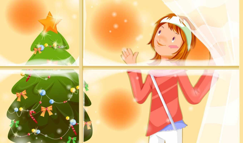 well, wishing, christmas, کارت, девочка, duvar, нравится, елочка, праздник, год, новый, kağıtları, iphone, звери,
