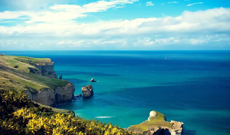 море, небо, берег, landscapes, stock, ocean,