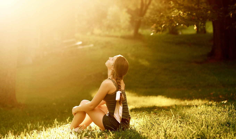 девушка, свет, девушки, парк, красивая, картинка, картинку,