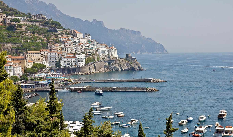 только, город, italy, amalfi,