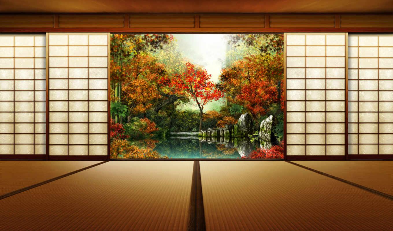 осень, японии, япония,