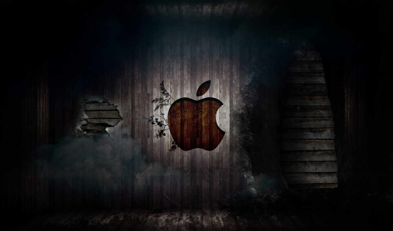 apple, mac, wall, logo, old