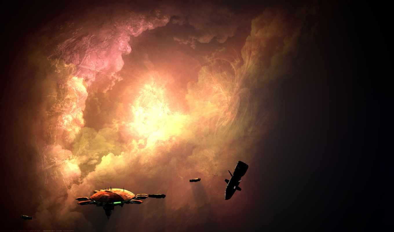 homeworld, красивые, космос, станция, фэндомы, game, art, korra,