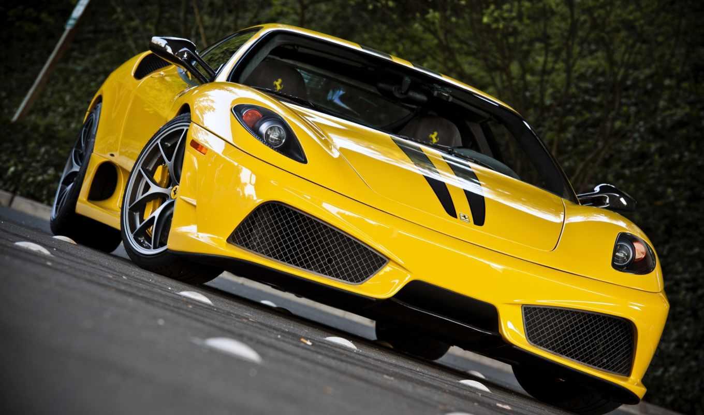 ferrari, yellow, cars, desktop, car,