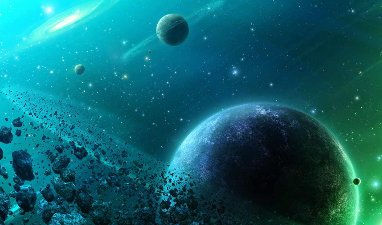 планеты, астероиды, belt, космос, совершенно, свой,