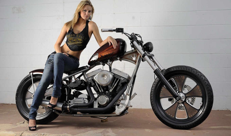 davidson, harley, devushka, мотоцикл, мотоциклы,
