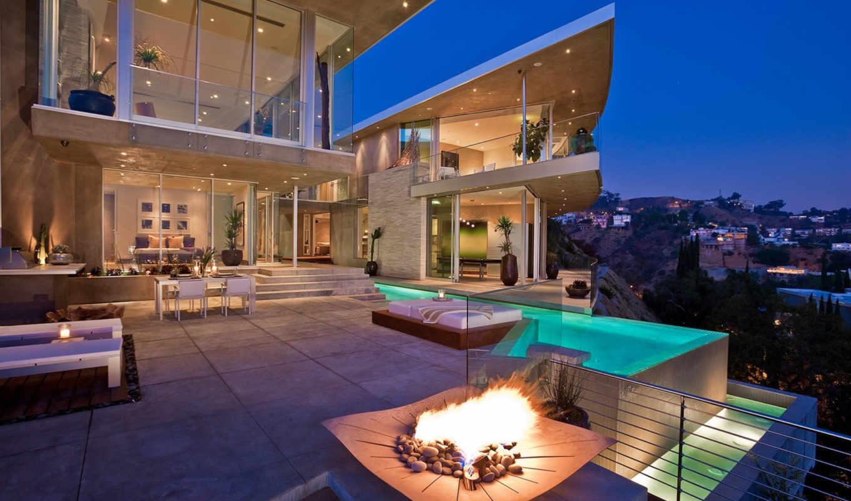 house, бассейн, california, los, angeles, home, картинка, eksterior, design, интерьер,