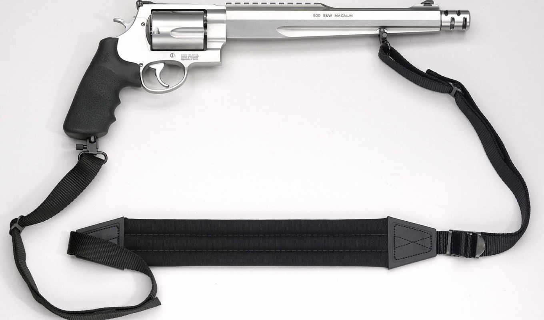 револьвер, ремешок, s&w, magnum, hunter, пикатинни