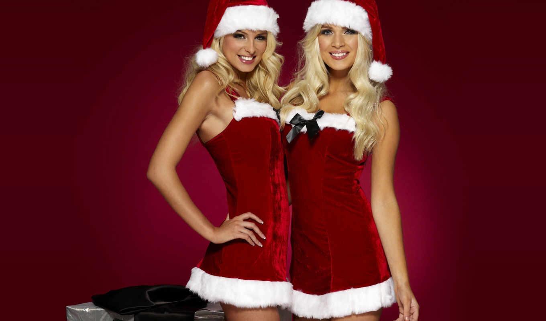 girls, christmas, год, santa, новый, костюмы, blondes, код, снегурочки, праздничные, happy, блондинки, симпатичные, снегурочка, women, девушки,