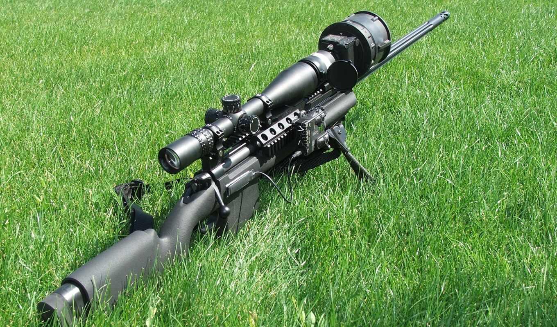 винтовка, снайперская, трава