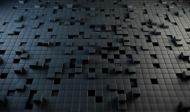 cubes, абстракция, стиль, puzzle, высоком, кубы,