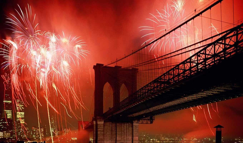 new, york, город, бруклин, нью, мост,