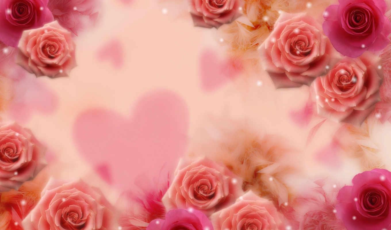 цветы, розы, droplet, water, flowers, amor, desktop, чтобы, roses, romantic, heart, manipulation, surrounding, жизни,