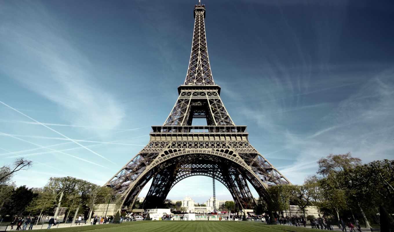 eiffel, башня, париж,