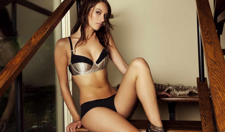 беретта, sophia, модель, сексуальная, девушка, лестнице, белье,