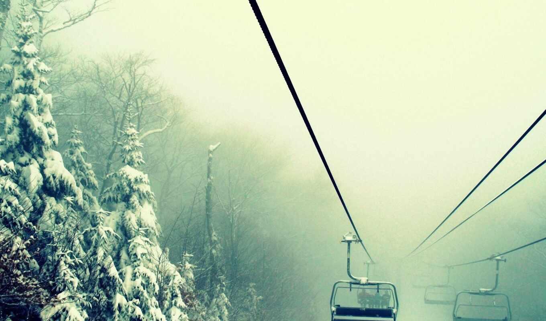 туман, winter, природа, ski, edward