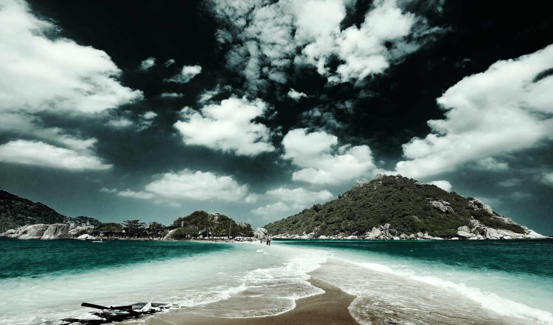 обои, природа, волшебная, пляж, закат, виктория, г