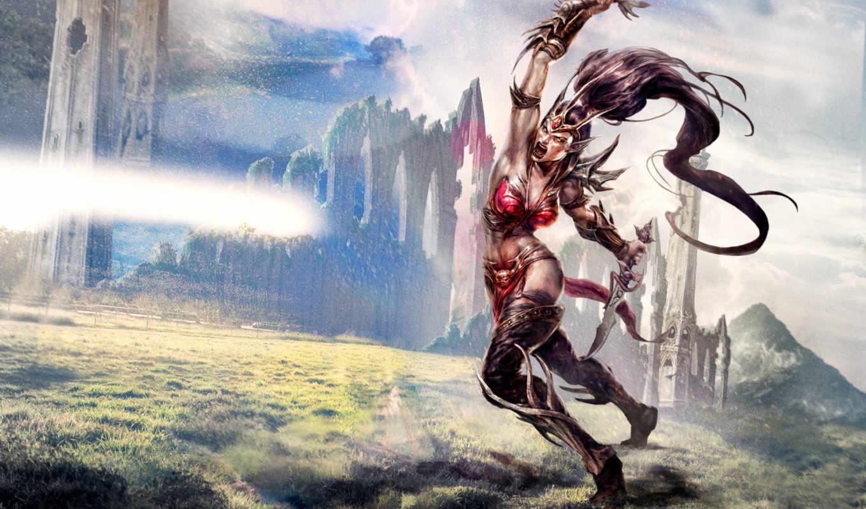 бе, иol, нй, warhammer, online, age, reckoning, эльфы, ææ, games, warrior, fantasy, women,