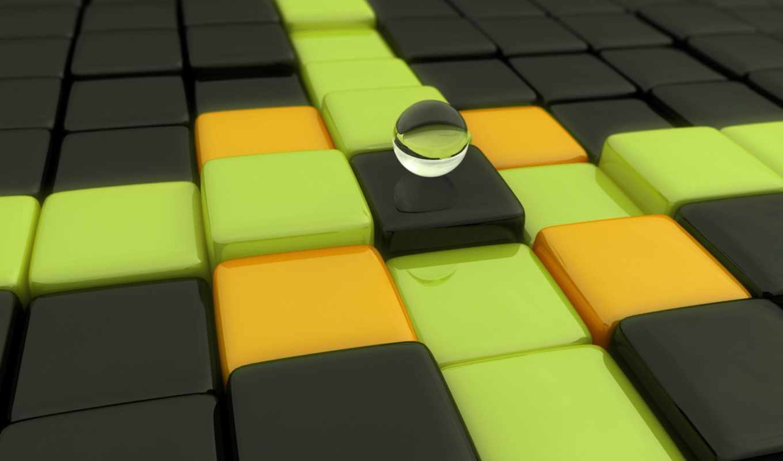 кубики, шар, ступени, uniqueness, картинку, шарик, темы, desktop, изображение, دي, eu, еще, графика, marble,