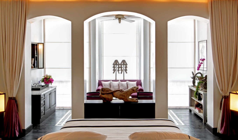 hotel, кровать, бутик, luxury, спальня, design, hotels, interir, bangkok, siam,