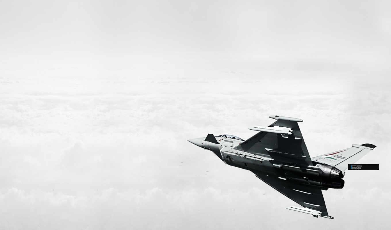 облака, самолёт, typhoon, eurofighter, картинка, картинку,