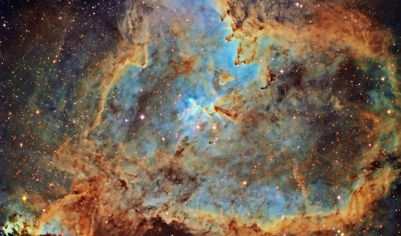 nebula, heart,