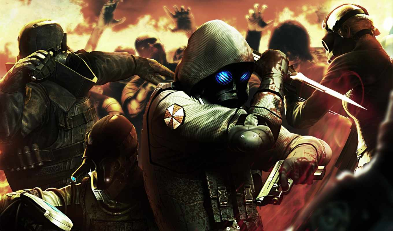 нож, бой, снаряжение, пистолет, evil, resident, city, raccoon, картинка, operation,