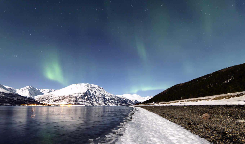 природа, широкоформатные, огни, northern, winter, осень, природы, заставки,