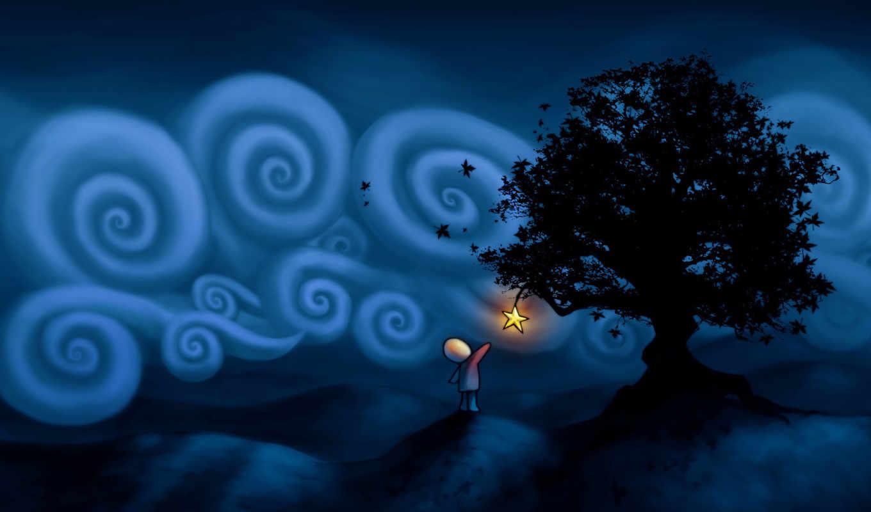 звезда, человечек, дерево, рисунок, que, картинка, нравится,