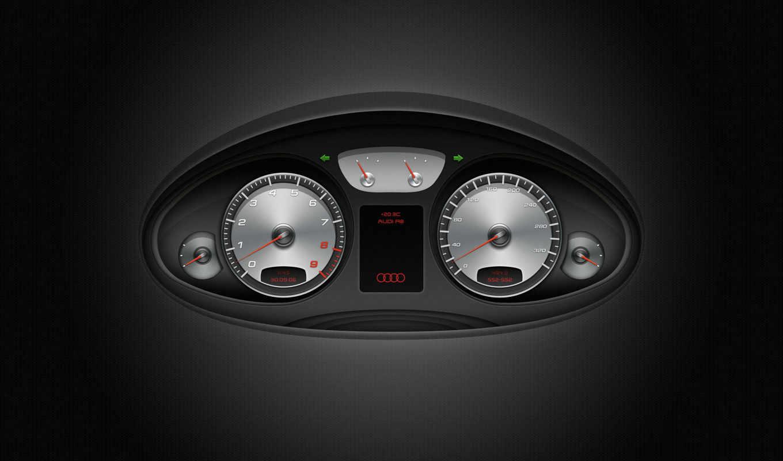ауди, машина, пульт, высоком, приборов, качестве, машины,