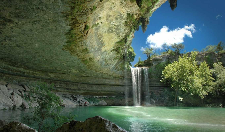 картинка, природа, водопад, заставка, full, телефон, озеро, заставки,