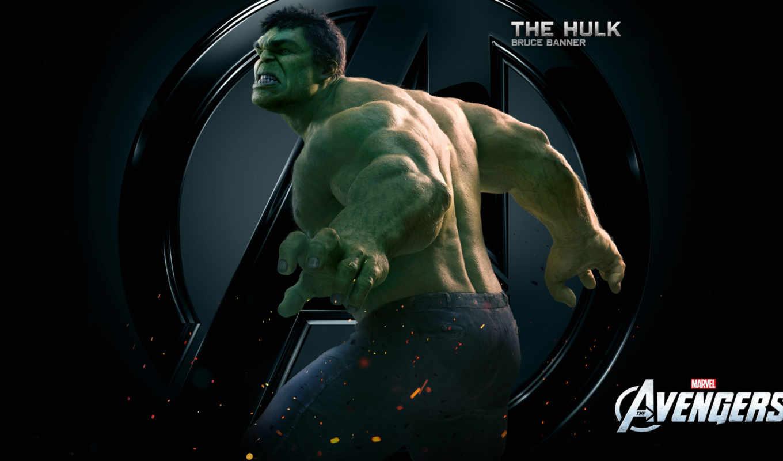 халк, мстители, hulk, bruce, знамя, avengers,