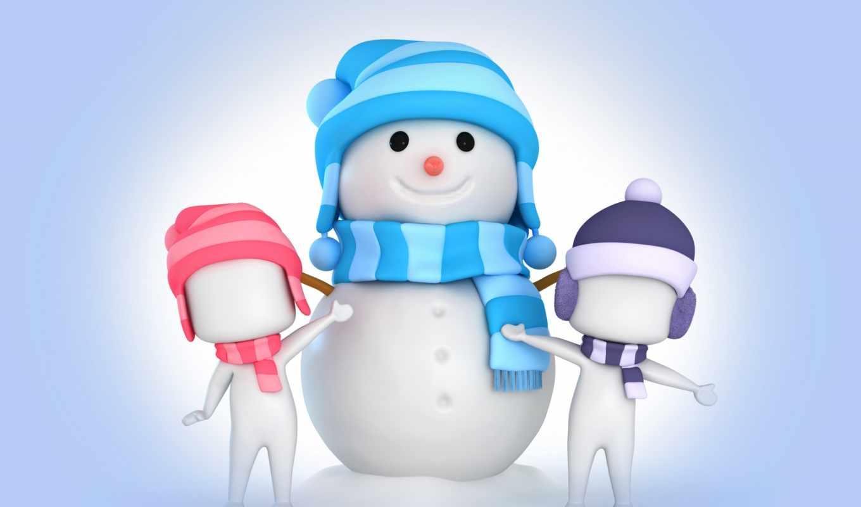 снеговик, вектор, cute, art, snowmen, images,