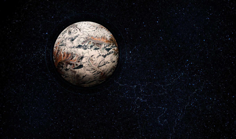 обои, планета, космос, звезды, планеты, город, гор