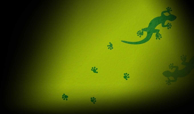 векторные, зеленые, следы, ящерицы, тритона, рисованные,