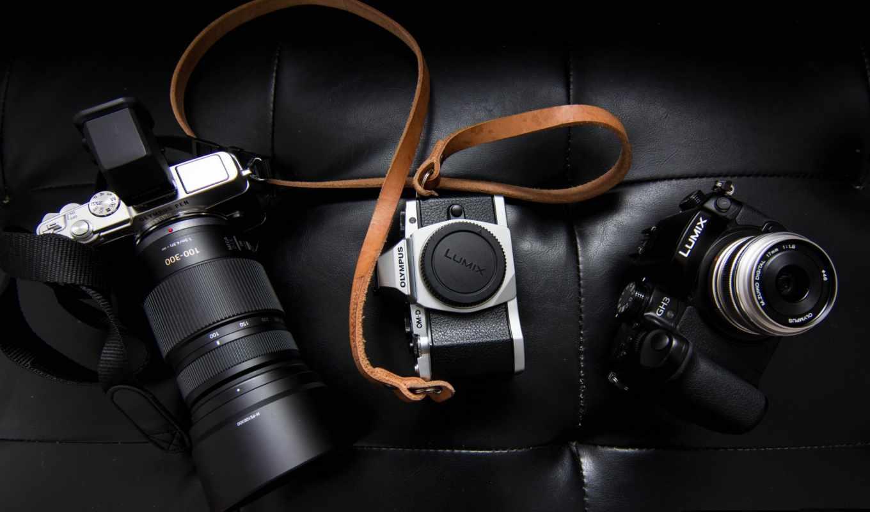 , фотоаппарат, фотографий, tech, lumix, крупным,