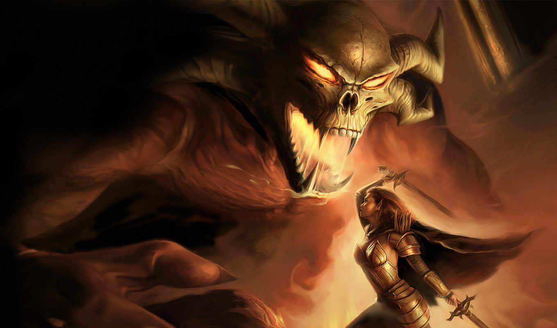 битва, абстрактная, monster, демоном, демон, аватарки, digital, вернуться, fantasy, picture, ангел, art, поделиться, нравится, hotwalls, creative, разрешении, изображения,