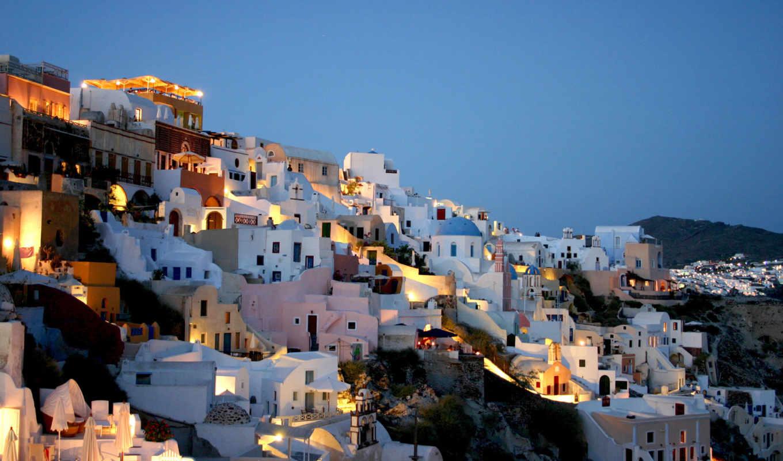 santorini, greece, домов, дома, является, греции,