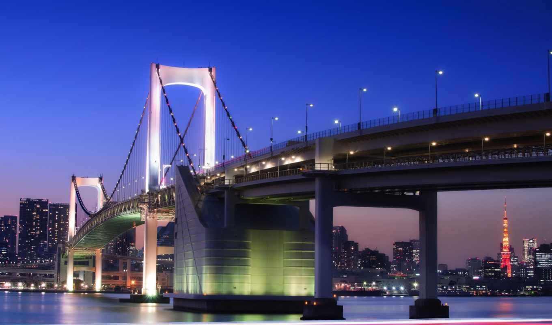 tokyo, япония, выдержка, азия, пересечение, взгляд,