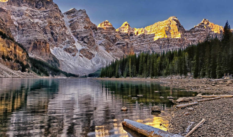 банф, долина, ozero, десяти, пиков, peaks, канада, ten, долина, national, park,