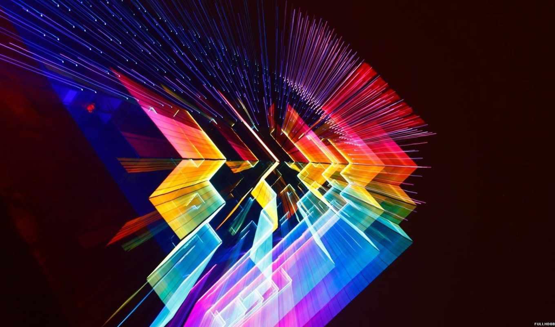 космос, colorful, desktop, треугольники,