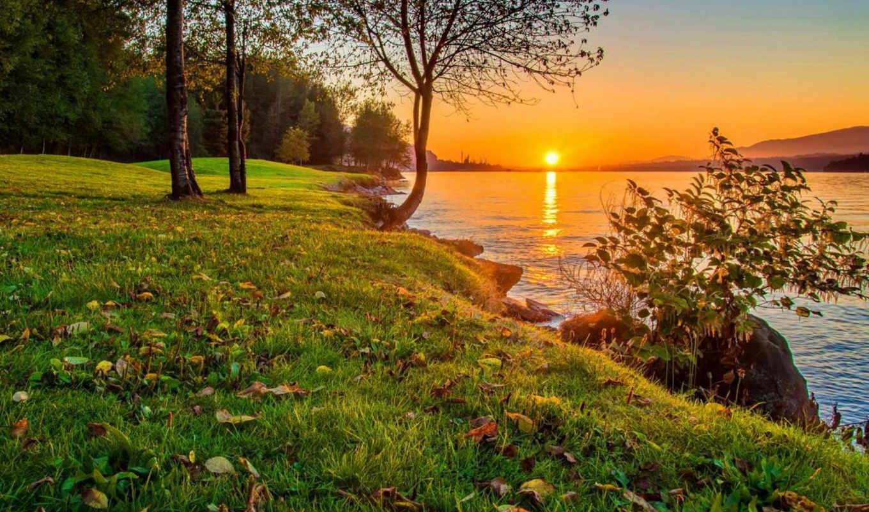 картинка, небо, природа, закат,