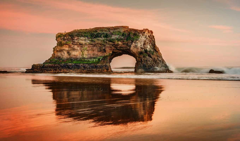 санта, cruz, california, крус, калифорния, cliff, море,