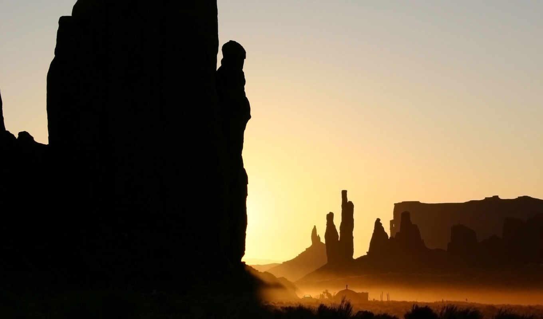 status, тёмные, monument, valley, пустыне, камни, закате, airena, courage, free,
