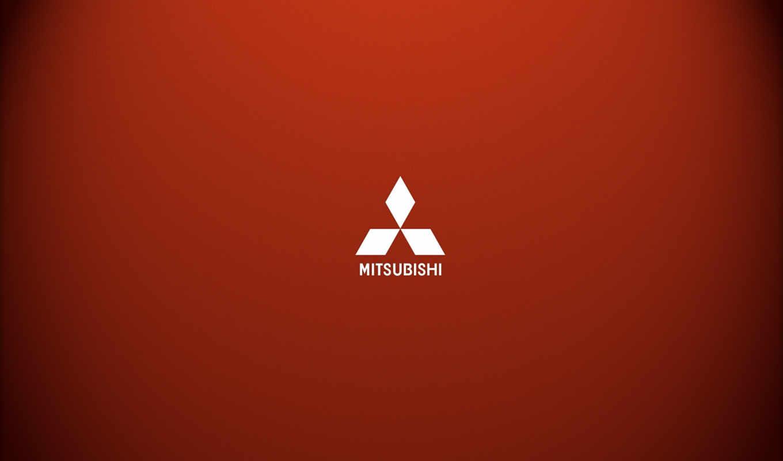 mitsubishi, лого, red, минимализм,