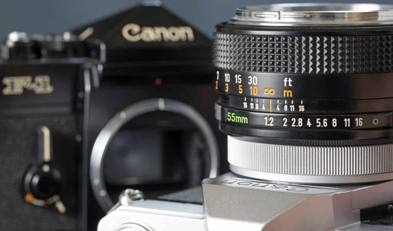 canon, фотоаппарат, объектив,