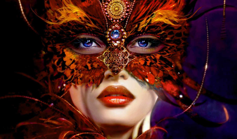 маска, девушка, взгляд, masquerade, голубоглазая, маски, венецианской, венецианские,