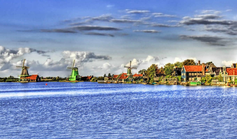 hdr, мельница, desktop, берег, река, небо, nature, manipulated, www, digital, photo, dnfg, туризм, world,