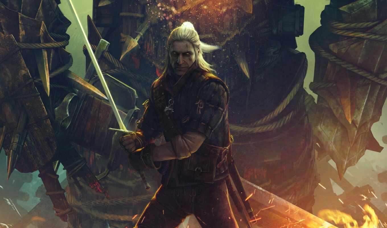 witcher, kings, assassins, меч, взгляд, fantasy, очк,